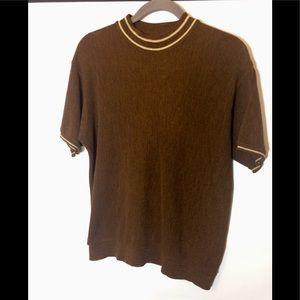 Men's Vintage Short Sleeve Sweater Size Medium
